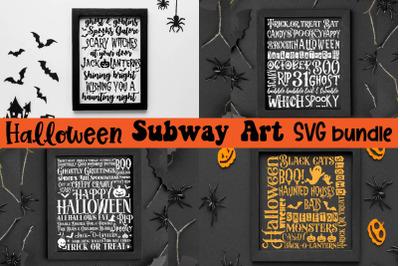 Halloween Subway wordart SVG Bundle