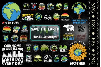 Save The Earth Bundle. 30 Designs.