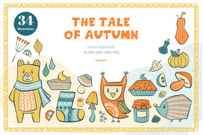 The Tale of Autumn Vector Illustrations