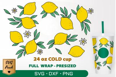 Lemon cup wrap SVG