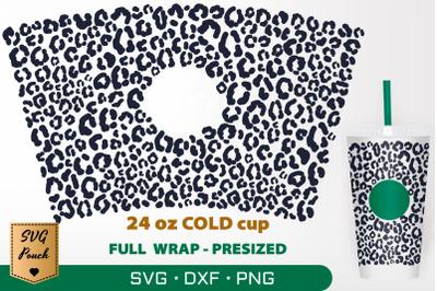 Leopard skin cup wrap SVG