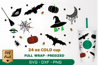 Halloween cup wrap SVG