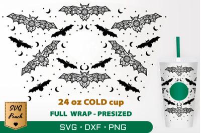 Halloween Bats cup wrap SVG