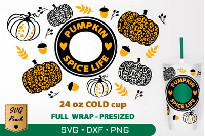 Pumpkin Spice Life cup wrap SVG