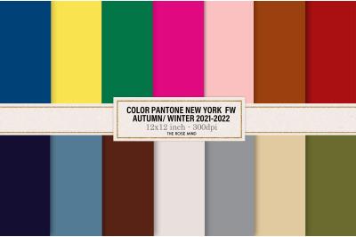 Pantone color New York FW Autumn-Winter 2021 - 2022