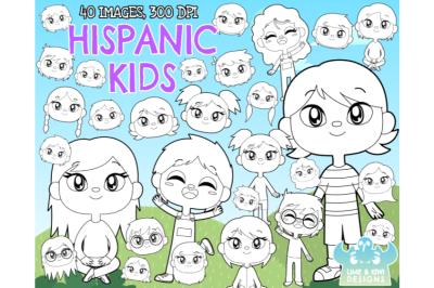 Hispanic Kids Digital Stamps - Lime and Kiwi Designs