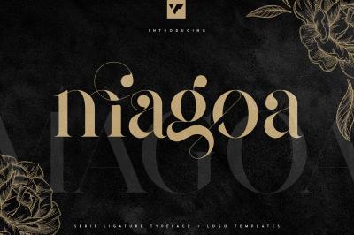 Magoa - Serif Ligature Typeface