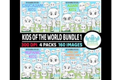Kids of the World Digital Stamps Bundle 1 - Lime and Kiwi Designs