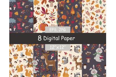 Fall seamless pattern Pack