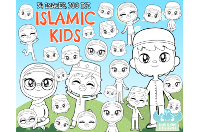 Islamic Kids Digital Stamps - Lime and Kiwi Designs