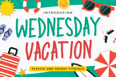 Wednesday Vacation - Playful Display Font
