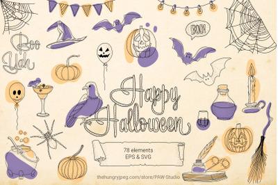 Halloween SVG Sign Bundle Spooky Clipart