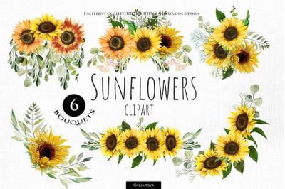 Sunflower Bouquets Clipart, Part 2