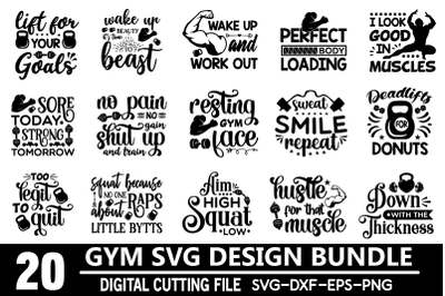 Gym svg design bundle