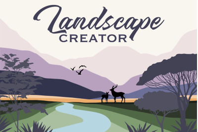 Landscape Creator - graphic and brushes for Procreate