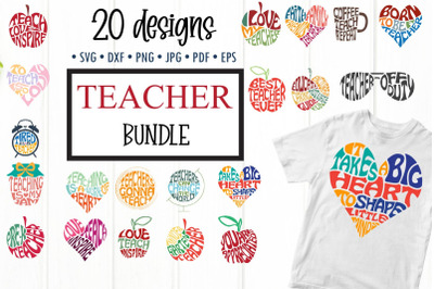 Teacher SVG bundle, Teacher word art cut files