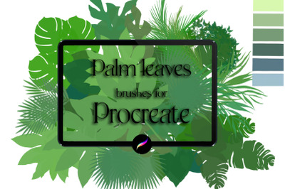Palm leaves brushes for Procreate
