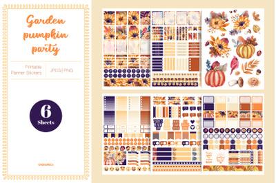 Garden Pumpkin Party Planner Stickers