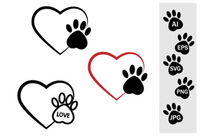The trail of a dog in the heart