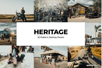 20 Heritage Lightroom Presets & LUTs