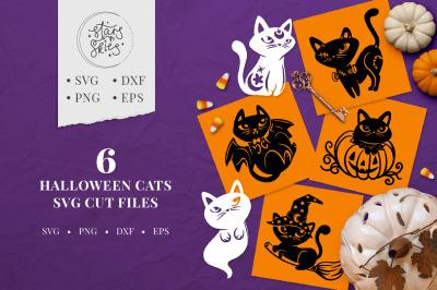 Halloween Cats SVG Cut Files