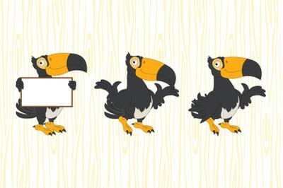 cute toucan animal cartoon