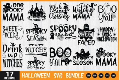 Halloween Quotes SVG Bundle, Spooky Svg, Silhouette Halloween svg,