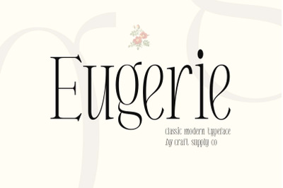 Eugerie - Classic Modern Typeface