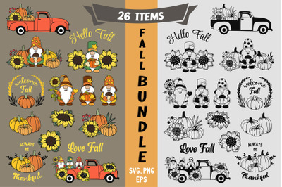 Fall Bundle svg, Fall Gnomes svg, Thanksgiving svg, Autumn