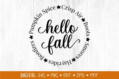 Hello Fall SVG, Fall Svg, Fall Things Svg, Autumn svg