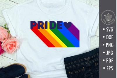 Pride typography with rainbow colors