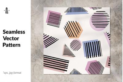 Geometric shapes seamless pattern