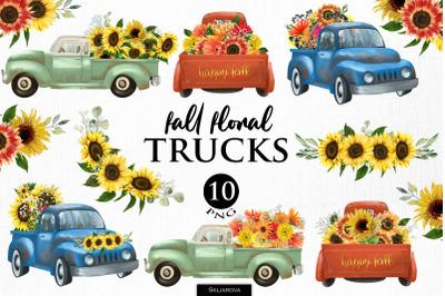 Fall floral trucks