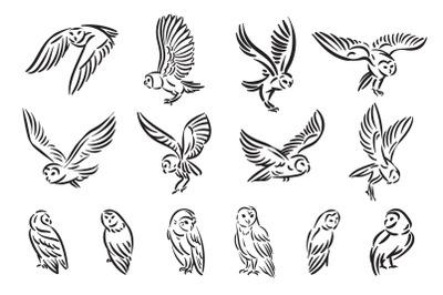 Owl bird illustration  ZIP file include:  EPS10 for Adobe Illustrator