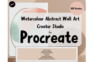 Procreate Abstract Geometric Watercolour Print Creator Studio