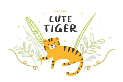 Cute tiger | Kids font