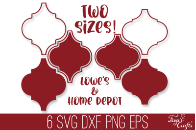 Christmas Arabesque Tiles SVG Pack | Arabesque Christmas SVG