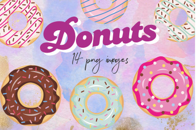 Donuts clipart, doughnut SVG, PNG images