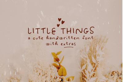 Sale! Little Things handwritten font