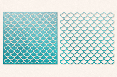 Mermaid Scales SVG Cut File