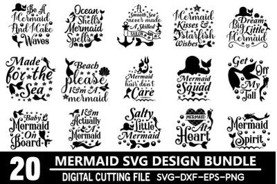 Mermaid svg bundle t shirt designs for sale!