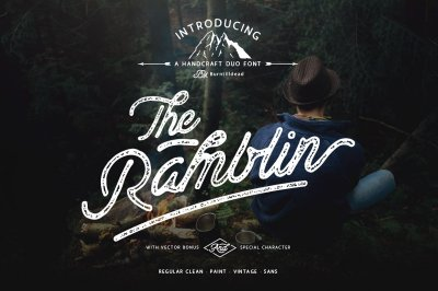 Ramblin Font Duo (15% OFF)