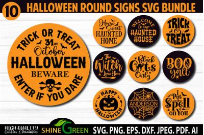Halloween SVG Bundle 10 Round Signs