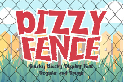 Dizzy Fence - Quirky Blocky Display Font