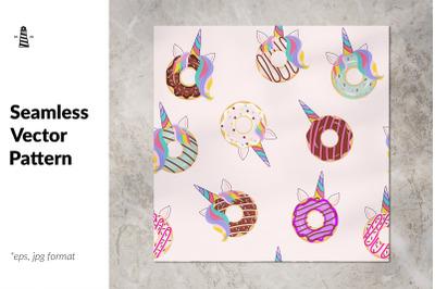 Unicorn cake seamless pattern