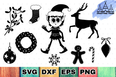Christmas SVG Cut Files Pack 2