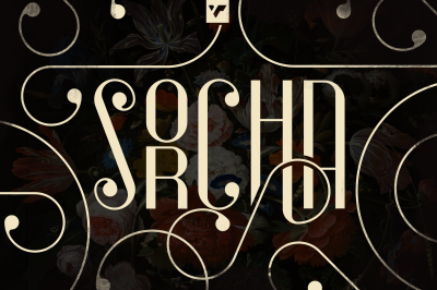 Sorcha Display font + Swashes