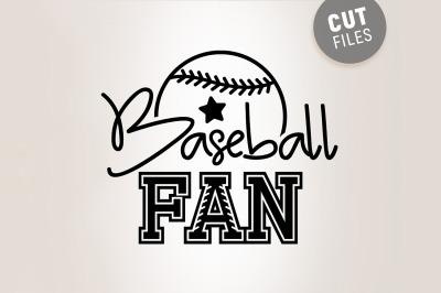 Baseball Fan SVG
