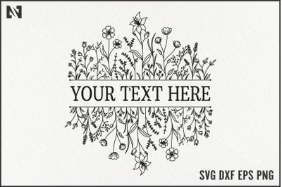 Flower Monogram Svg, Floral Monogram Svg, Flower Border Svg