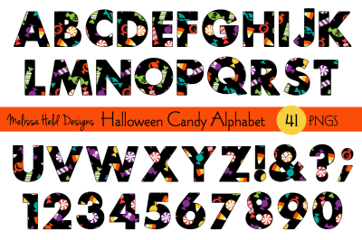 Halloween Candy Alphabet